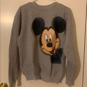 Disney Hanes grey Mickey Mouse crewneck